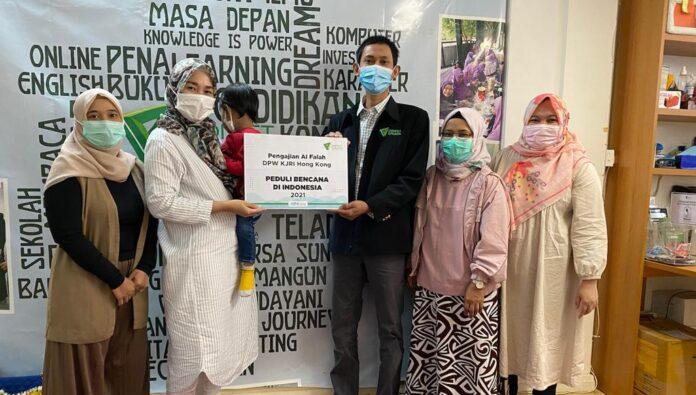 Majelis Pengajian DWP KJRI Hong Kong Titip Donasi Bencana ke DDHK