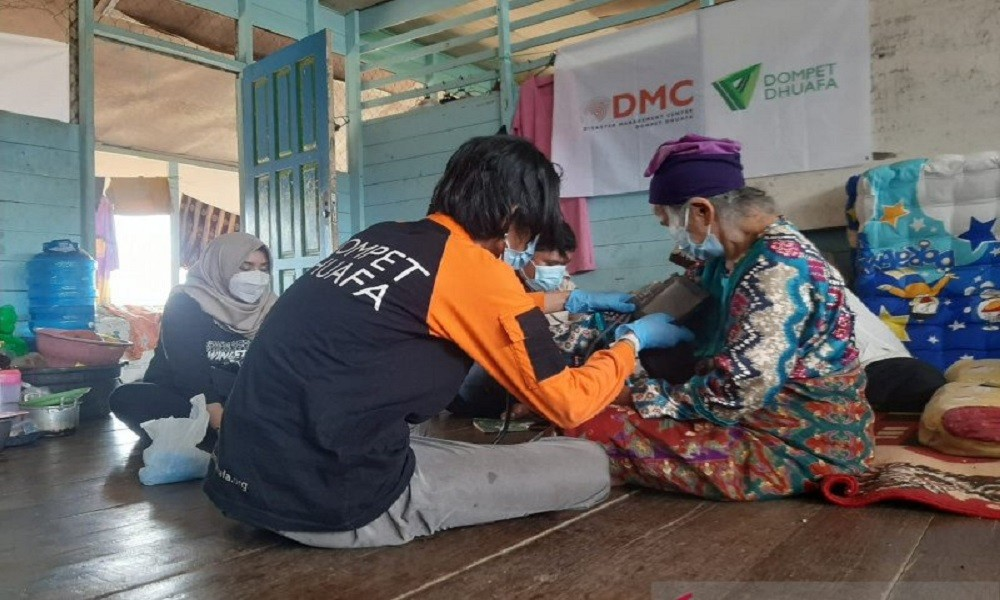 Dompet Dhuafa Buka 2 Pos Medis Hingga Dapur Umum di Lokasi Banjir Kalsel