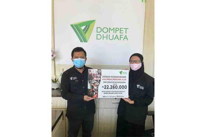 Donasi kemanusiaan dari para donatur di Hong Kong untuk penyintas bencana gempa bumi Malang disalurkan DDHK melalui Dompet Dhuafa Jawa Timur.