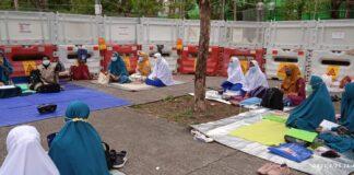 Suasana Pondok ramadhan DDHk di Tai Po.