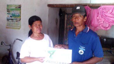 DDHK juga menyantuni Ti'ah, janda dhuafa di Jombang.